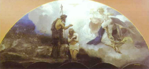 """Baptism of Christ"" sketch for the mural of the Cathedral of Christ the Savior in Moscow, 1876"
